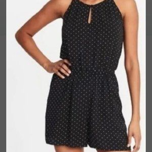 Old Navy Black and White Polkadot Romper Small